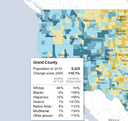 From The NYT Mapping The US Census By County The Zephyr - Mapping the 2010 us census