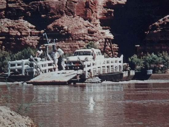 the hite ferry in glen canyon 1959 photo by charles kreischer