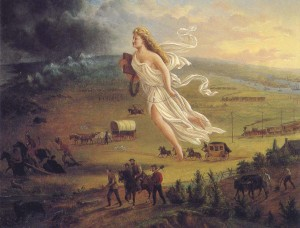 """The Spirit of the Frontier"" by John Gast, 1872."