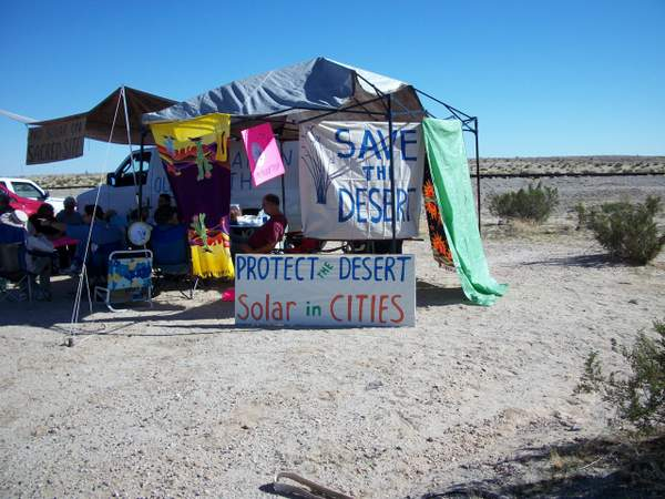 DPC-organized protest against the Imperial Solar project on public land sacred to the Quechan Native American tribe.