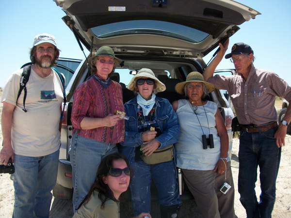 "DPC members on a""monitoring"" field trip in Ocotillo."