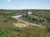 The Little Missouri River.