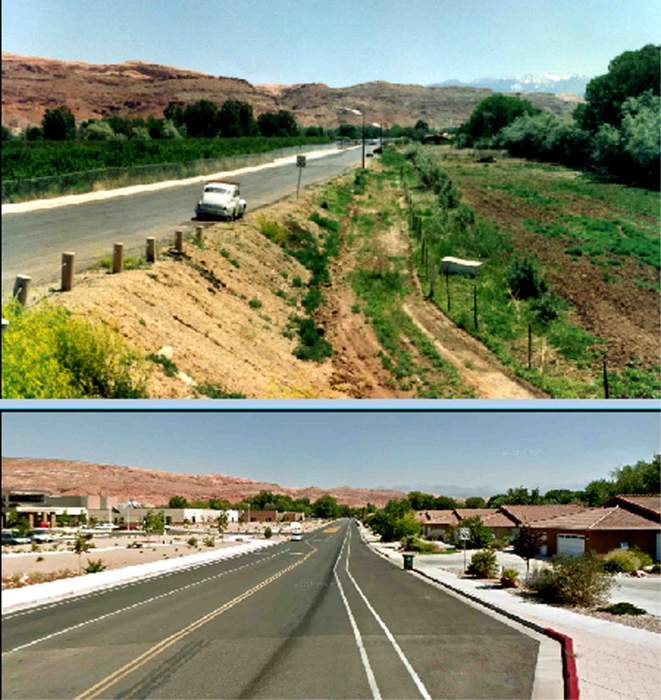 Moab, Then & Now: Williams Way.