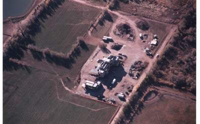 Bonderman's Moab Home, from the air.