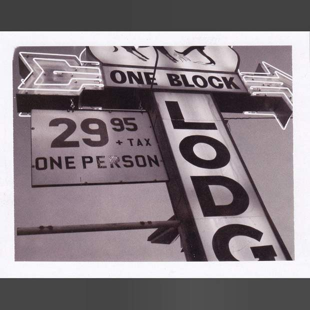 The Prospector Lodge sign, main st Moab