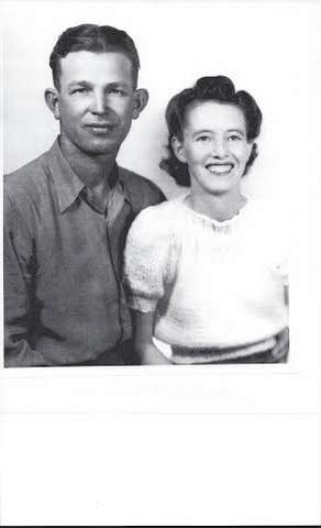 Toots and her husband Dick as newlyweds.