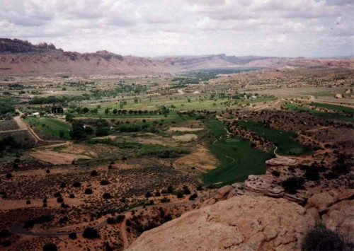 The Moab Valley in 1985. Photo by Jim Stiles.