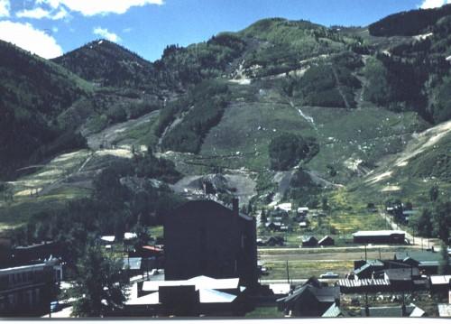 Aspen Ski Area in 1948. Photo by Herb Ringer.