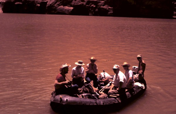 Ken Sleight on a Colorado River trip.