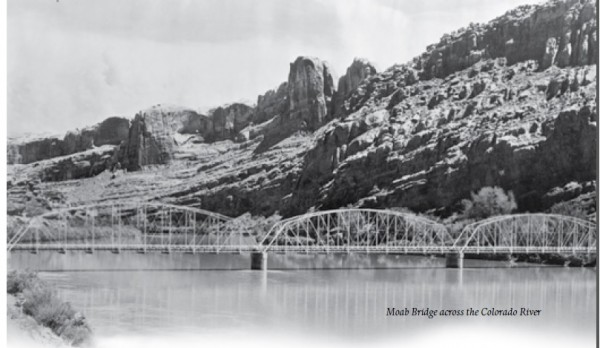 Moab Bridge across the Colorado River.