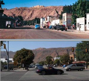 Downtown Moab. 1950 & 2015
