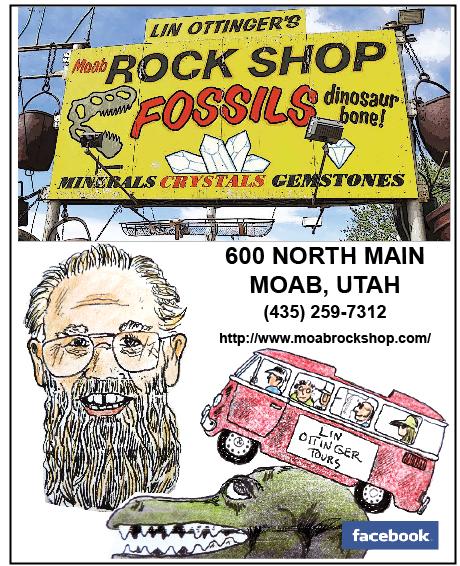 http://www.moabrockshop.com/ Fossils dinosaur bone minerals crystals gemsstones 600 north main moab utah 435-259-7312