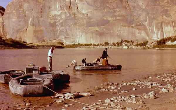 Ken Sleight River Trip. 1960s.