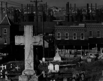 Graveyard and Steel Mill. Bethlehem, PA.