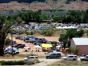 The crowds for the Bluff gathering.