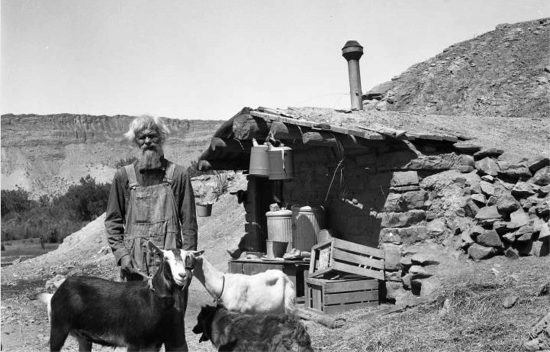 "Jack Holley, Moab's ""Goat Man."""