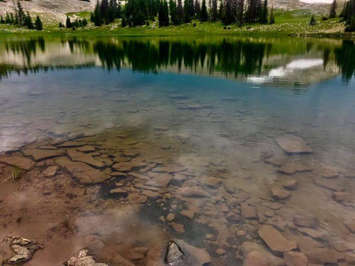 High altitude lake in the Uinta Mountain Range