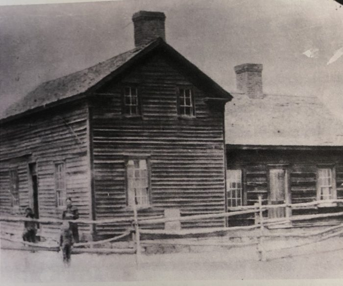 The family home circa 1900
