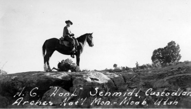 Hank Schmidt on horse