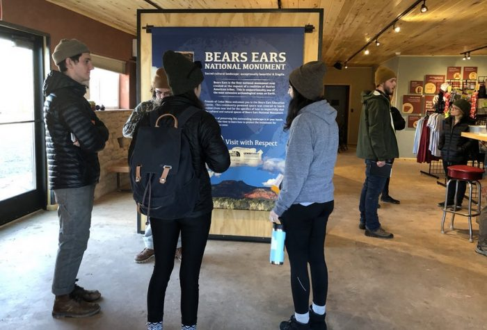 Friends of Cedar Mesa provides visitors its version of what needs to happen in Bears Ears country at the renovated Silver Dollar Bar in Bluff, Utah.
