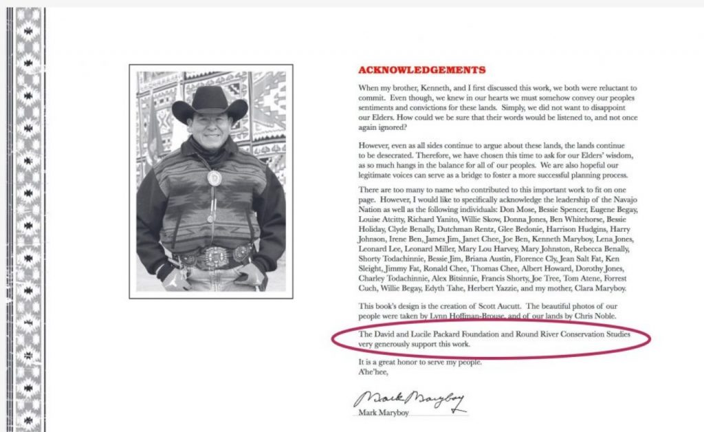 Mark Maryboy and his brother, Kenneth, chair of the San Juan County Commission, founded Utah Diné Bikéyah. This screen grab is taken from a promotional document.