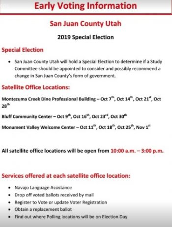 San Juan County's announcement of a special election