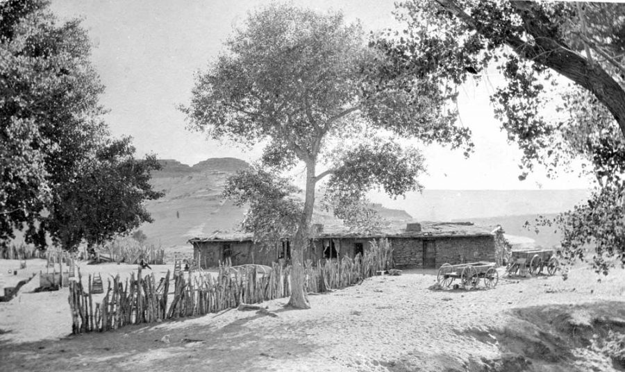 The Wetherill home and trading post at Oljato