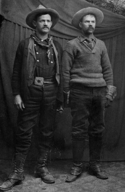 John Wetherill on the left with his younger brother, Clayton