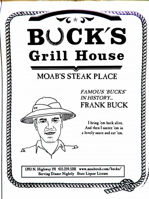 Ad Buck's Grill House