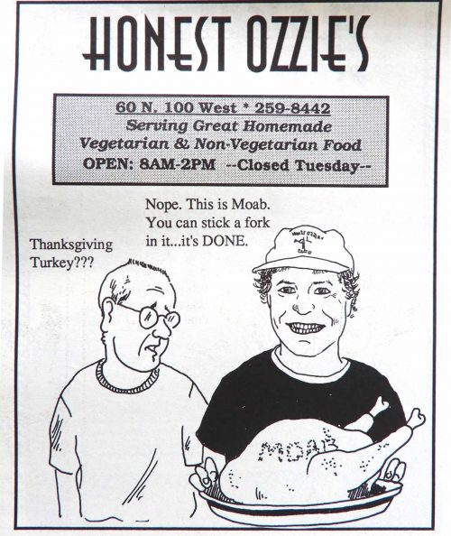 Honest Ozzie's Ad Moab: Stick a fork in it...it's DONE