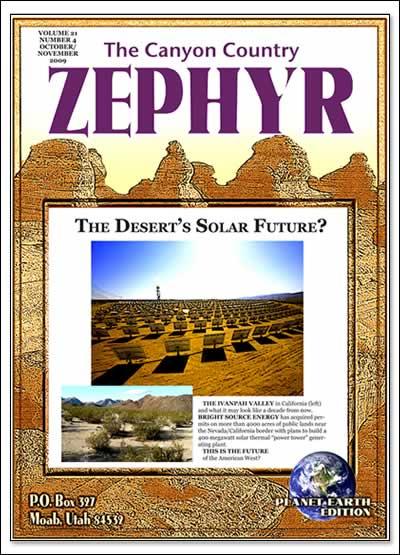 Cover The Desert's Solar Future October/November 2009