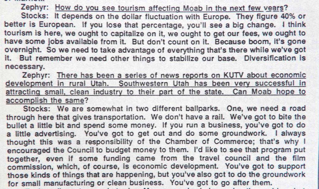 Mayor Stocks Interview