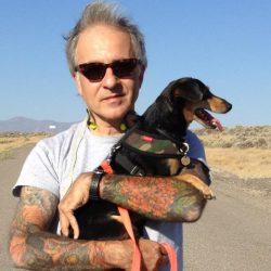Paul Vlachos with Elko, the Desert Dog