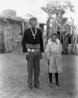 Hoskininni Begay and Sister Wetherill at Oljato in 1909