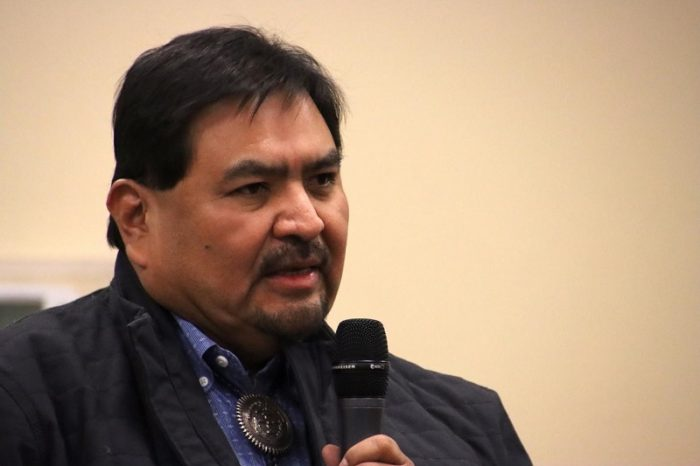 James Adakai, chair of the San Juan County Democratic Party, organized a successful campaign to kill Proposition 10. He said it was one several recent attempts to deny power to Navajos (Bill Keshlear).