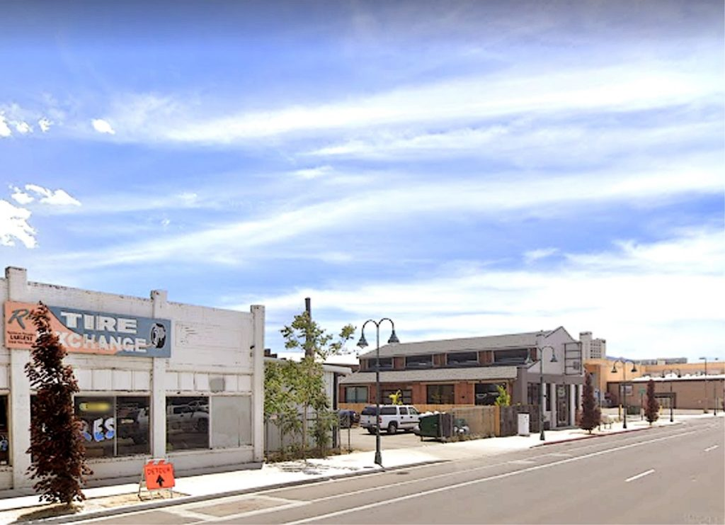 Google Street image of 4th Street, Reno. Former location of Midway Hotel.