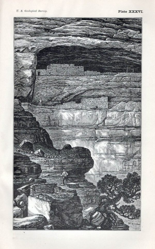 Mesa Verde's Sixteen Window House as drawn by William Henry Holmes