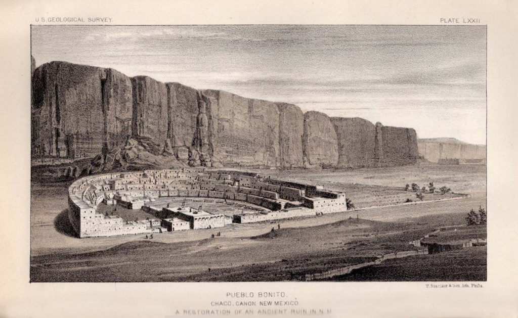 An artist's conception of how Pueblo Bonito might have appeared when it was occupied