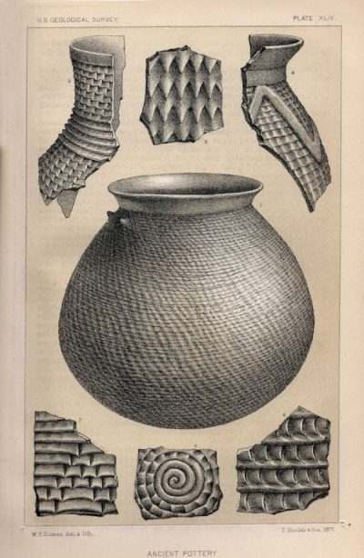 William Henry Holmes made this drawing of some of the pottery he found
