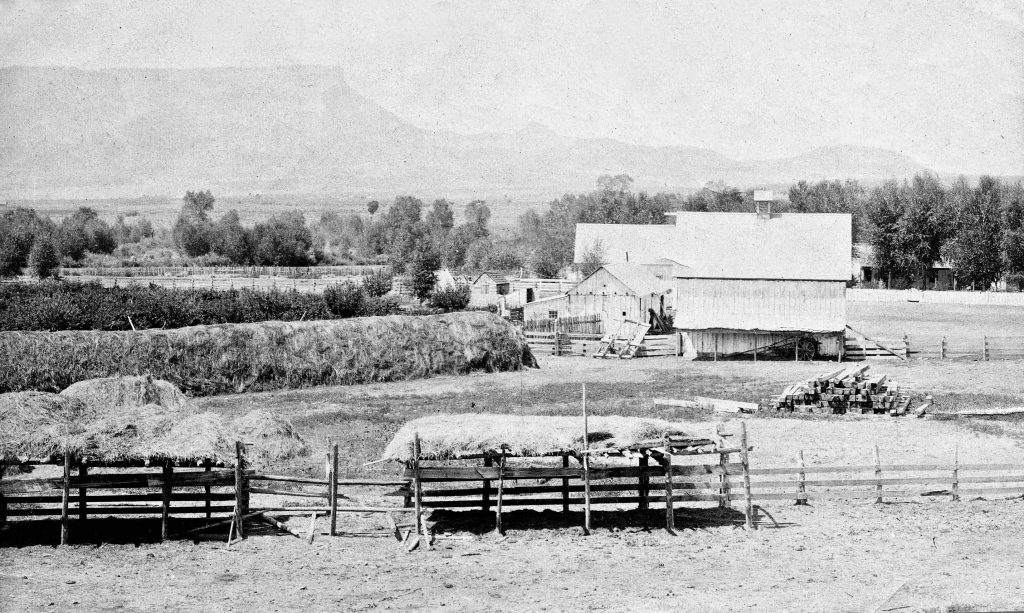 The Wetherills' Alamo Ranch looking west. Mesa Verde is to the southwest.