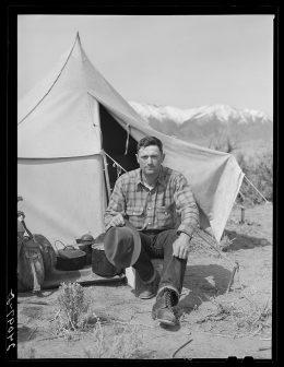 Basque sheepherder. Dangberg Ranch, Douglas County, Nevada
