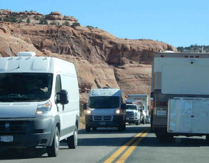 UDOT road delay. photo by Jim Stiles