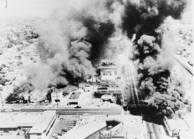 Watts Riots Burning Buildings