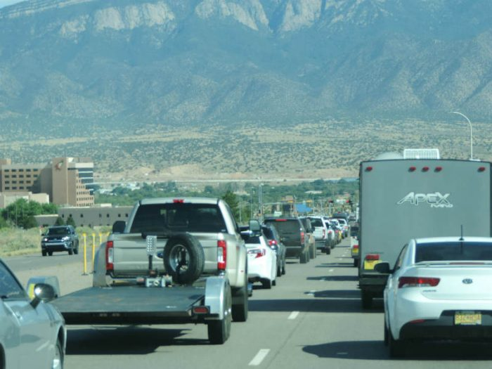 Bernalillo traffic. photo by Jim Stiles