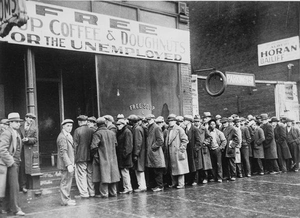 Great Depression bread line