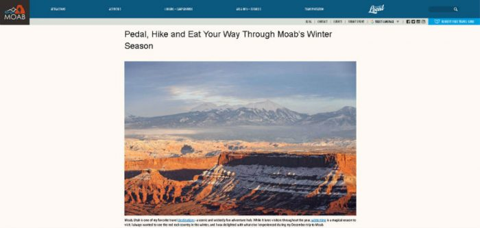Discover Moab page