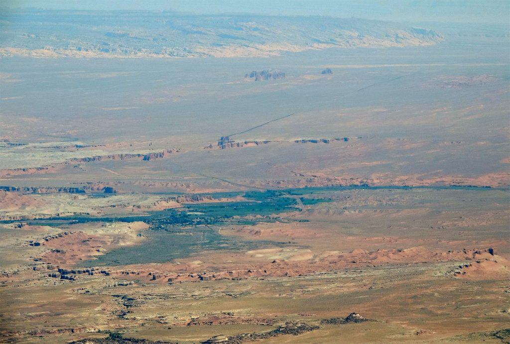 Hanksville, from the Henry Mountains. Photo by Jim Stiles