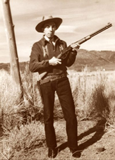 Herb Ringer with his Winchester Rifle Near Geiger Grade, Nevada. 1941