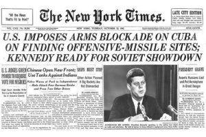 Cuban Missile Crisis headline. NY Times. October 23, 1962