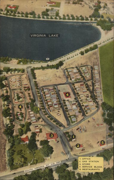 Old Orchard Trailer Court Aerial View